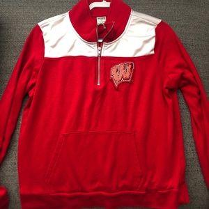 PINK Wisconsin Quarter Zip Sweatshirt